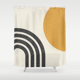 Mid century modern Sun & Rainbow Shower Curtain