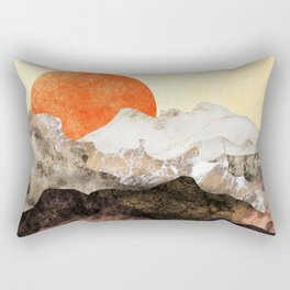 Marbled mountains by sunset Rectangular Pillow