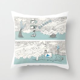 The search of love Throw Pillow