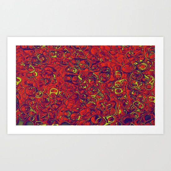 Ipad skins, Iphone, Computer, Canvas, Print, Red, Abstract, Funky Art Print