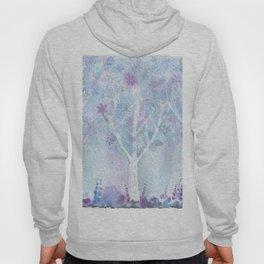 Dreamy Blue Flower Trees Hoody