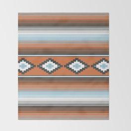 Modern Mexican Serape in Technicolor Throw Blanket