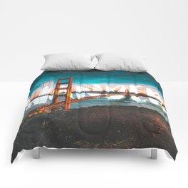 Wander Golden Gate Bridge Comforters