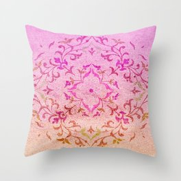 Oriental Sandy Beach Throw Pillow