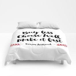 Buy Less Choose Well Make it Last Comforters