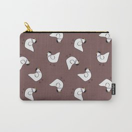 the happy french hen in lilac greige Carry-All Pouch