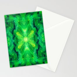 Brush play in hues of green 13 Stationery Cards