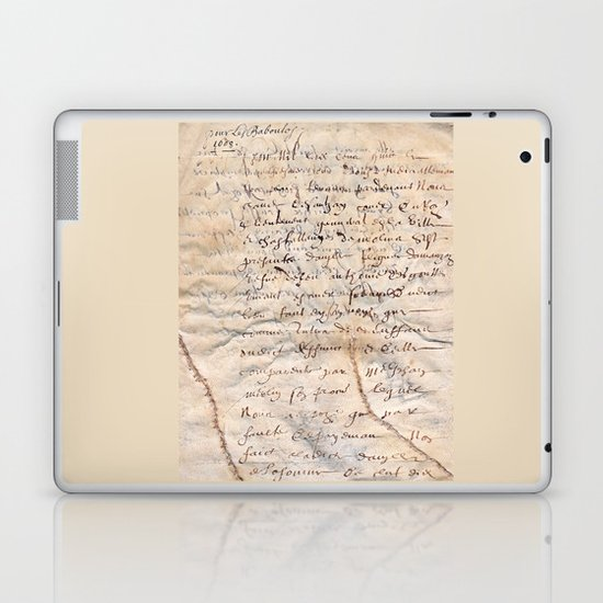 French Parchment Laptop & iPad Skin