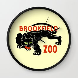 Black panther Brookfield Zoo ad Wall Clock
