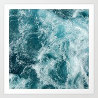 Art Prints featuring Sea by Vickn