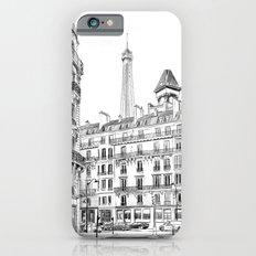Parisian street - Architectural illustration Slim Case iPhone 6s