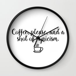 Gilmore Girls - Coffee and Cynicism Wall Clock