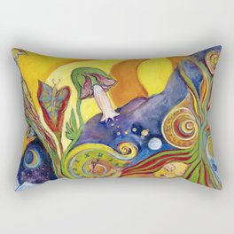 The Dream Whimsical Modern Alice In Wonderland Fantasy Psychedelic Art Rectangular Pillow