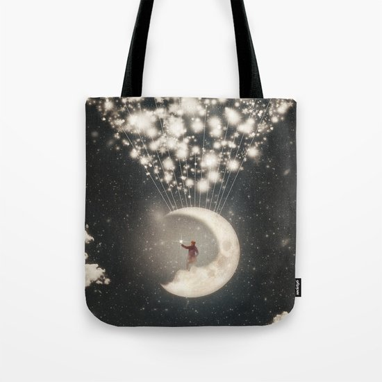The Big Journey of the Man on the Moon  Tote Bag