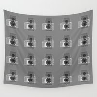 history Wall Tapestries featuring Camera History by BlancaJP