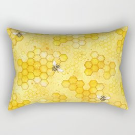 Meant to Bee - Honey Bees Pattern Rectangular Pillow