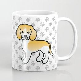 Cute Lemon And White Beagle Dog Cartoon Illustration Coffee Mug