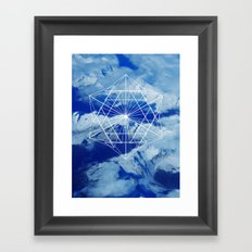 Mountains, Clouds and Geometry Framed Art Print
