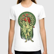 Zombie Nouveau White Womens Fitted Tee MEDIUM