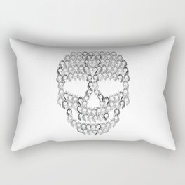 Skull Unicorns | Creepy Rainbow Rectangular Pillow