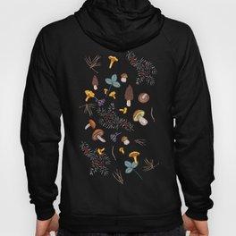 dark wild forest mushrooms Hoody
