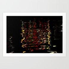 River Lights Art Print