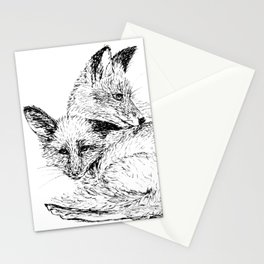 Foxes napping Stationery Cards