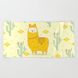 Alpaca summer Beach Towel