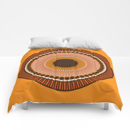 Tiger Eye Mandala Comforters