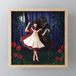 A Dangerous Dance, Red Hood And The Wolf Framed Mini Art Print