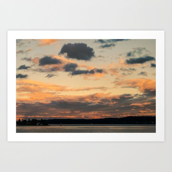 Umber Harbour Art Print