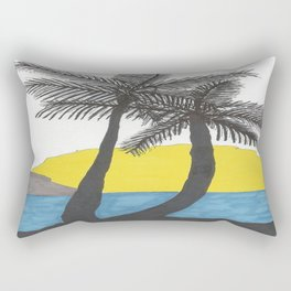 The Beach at Sunrise Rectangular Pillow
