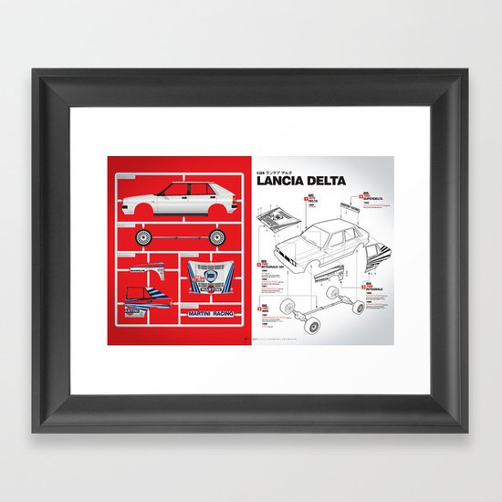 Lancia Delta History Model Kit in the WRC Framed Art Print