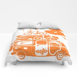 Funny family vacation camper Comforters