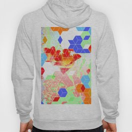 Pop Floral Cube Pattern 2  #fashion #pattern #lifestyle Hoody