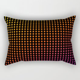Dark Chromo Diamonds hot Rectangular Pillow