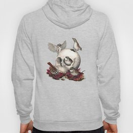 White-throated Sparrows Forage Amongst Human Remains Hoody
