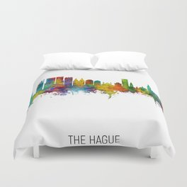 The Hague Netherlands Skyline Duvet Cover