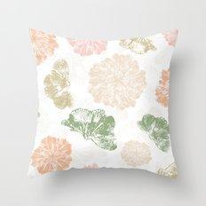 Ginkgo Floral Throw Pillow