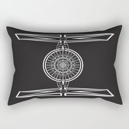 Tie Fighter Mandala Illustration print Rectangular Pillow