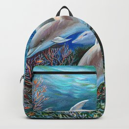 Happy Family Dolphins Backpack