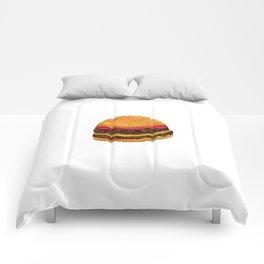 Watercolor hamburger Comforters