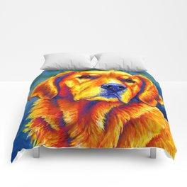 Faithful Friend - Colorful Golden Retriever Comforters