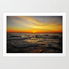 Sunset over Lake Huron Art Print