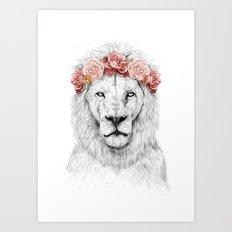 Festival lion Art Print