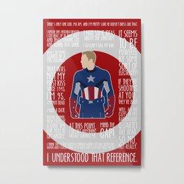The First Avenger Metal Print