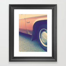 GOLD KINGSWOOD Framed Art Print