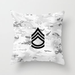 Sergeant First Class (Winter Camo) Throw Pillow