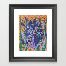 Descending On A Banco Framed Art Print