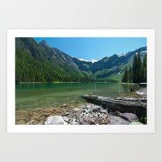 Avalanche lake Art Print